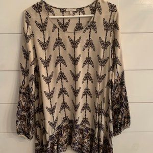 Multi Colored Printed Tan Tunic